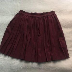 Waist Pleat Skirt
